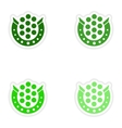 concept stylish paper sticker on white background vector image vector image