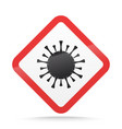 coronavirus warning and attention sign covid-19 vector image vector image