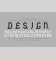 creative font - retro ancient design vector image vector image