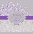 delicate lace card with lavender flower vector image vector image