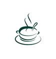 drink coffee logo icon design vector image vector image