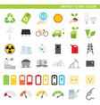 energy icons color vector image vector image