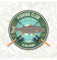 fishing sport club patch concept for vector image