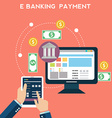 Flat design concepts of online payment methods vector image