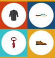 flat icon dress set of uniform beach sandal male vector image vector image
