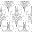 Geometric mandala seamless pattern vector image vector image