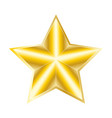 golden star isolated clip art vector image