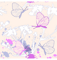 grunge floral seamless pattern vector image