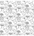 hand drawn mushrooms seamess pattern doodle vector image vector image