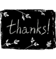 Hand drawn Thank You card vector image vector image