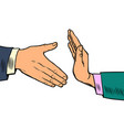 handshake ban hygiene and sanitation vector image vector image