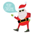 Hipster Santa Claus Christmas background vector image vector image