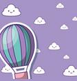 hot air balloon desing vector image vector image