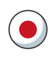isolated japan flag icon block design vector image