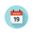 january 19 flat daily calendar icon date vector image vector image
