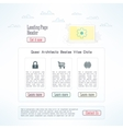 landing page template in modern flat design vector image