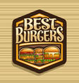 logo for best burgers vector image