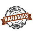 made in bahamas round seal vector image vector image