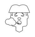 man smoking cartoon vector image