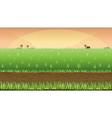 Meadow field background vector image vector image