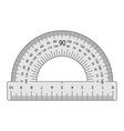 measuring instrument is a protractor vector image