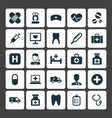 medicine icons set collection of mark pellet vector image vector image