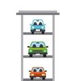 Parking zone design vector image