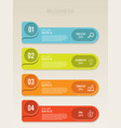planning for infographic label template vector image vector image