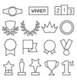 prizes and awards outline icon collection vector image vector image