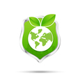 Protection shiled and eco concept save our world vector image
