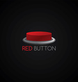 red button template vector image