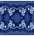 Seamless mazarine floral pattern in gzhel style vector image vector image