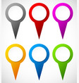 set of colorful map markers map pins vector image