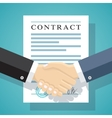 Signing of a treaty business contract vector image vector image