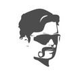silhouette of a man face vector image