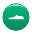 slippers icon green vector image