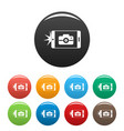 smartphone take photo icons set color vector image vector image