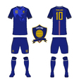 Soccer kit football jersey template for Thailand vector image vector image