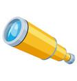 spyglass yellow flat icon telescope field scope vector image