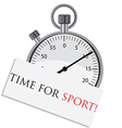 Stopwatch with text time for sport vector image vector image
