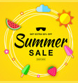 summer sale template flat paper banner vector image vector image