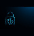 technology cyber security concept lock symbol vector image vector image