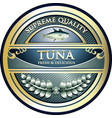 tuna gold icon vector image