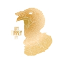 turkey head vector image