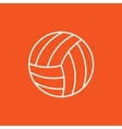 Volleyball ball line icon vector image vector image