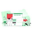 web designer planning visual design for web vector image vector image