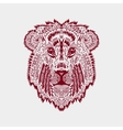 Zentangle stylized lion head vector image vector image