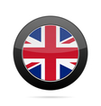 Flag - United Kingdom Shiny black round button vector image