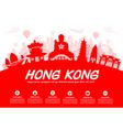 Hong Kong Travel Landmarks vector image