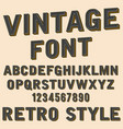 retro 3d alphabet and number sign old typography vector image